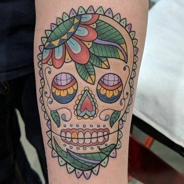 Deep Spiritual Meaning of Sugar Skull Tattoos Plus 87
