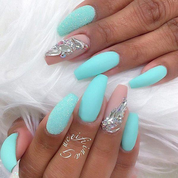 Ocean Blue Is A Great Colour For Any Nail Shape The Right Shade Of Paint Will Make Your Nails Look Truly Impressive And Not Demand Additional