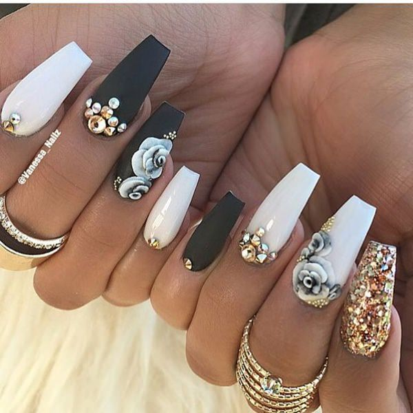 58 Creative Coffin Nail Designs For This Season