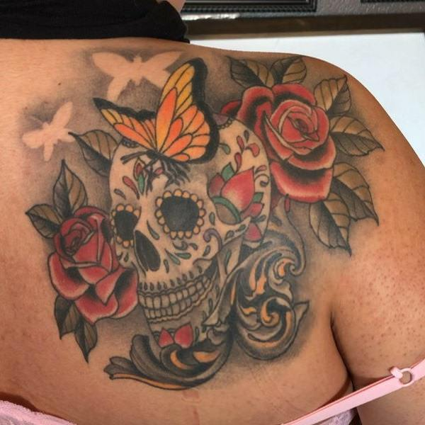 Deep Spiritual Meaning Of Sugar Skull Tattoos Plus 87 Beautiful
