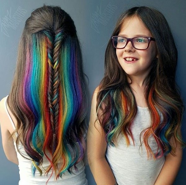 104 Outstanding Rainbow Hair That You Can't Take Your Eyes Off