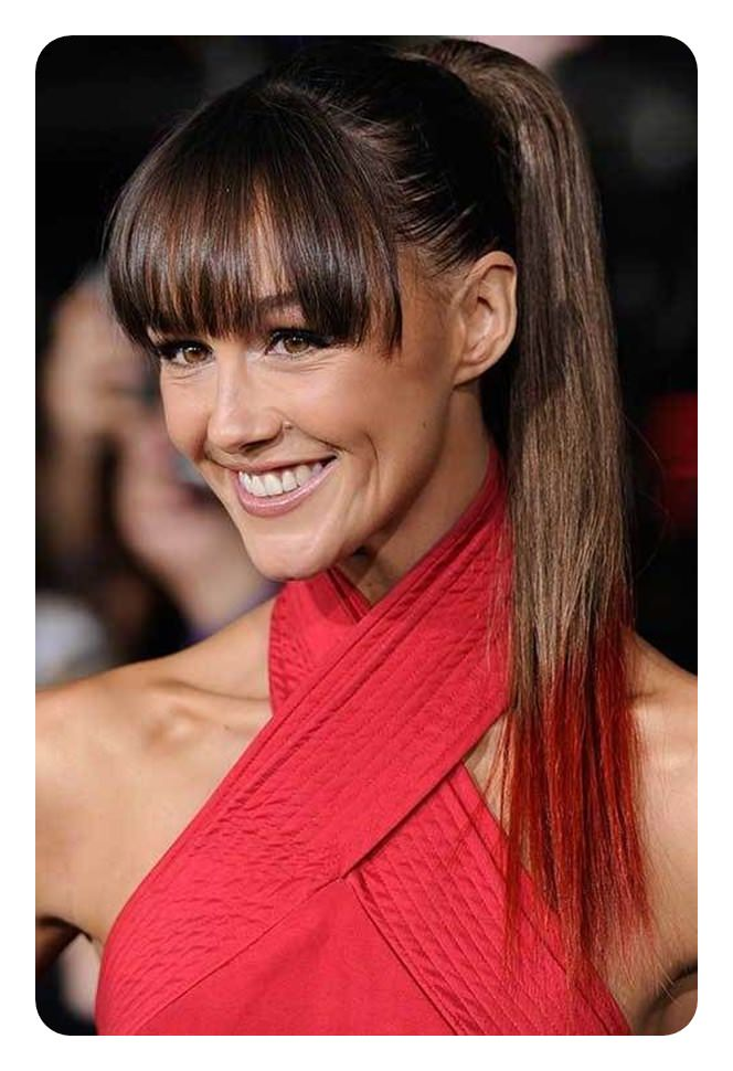 120 Fascinating Ponytail With Bangs To Cherish On