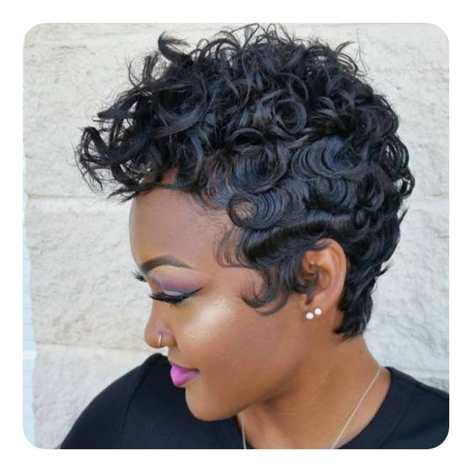 Black Hair Style With Finger Waves