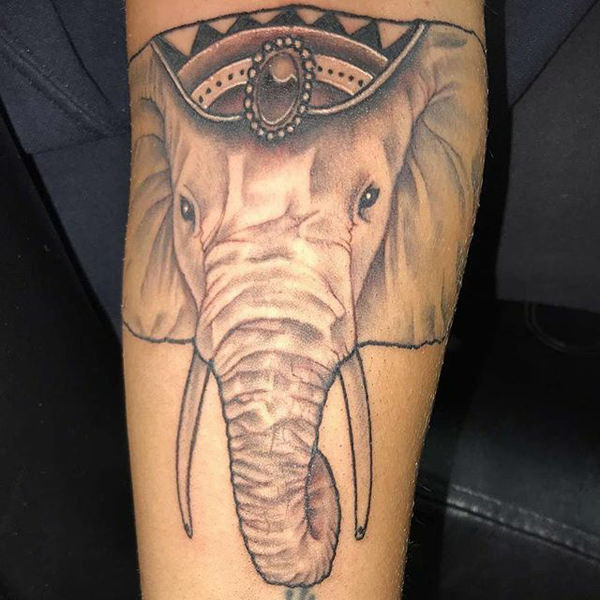 20729bbc9 This elephant tattoo was taken from pinterest. Traditional and realistic at  the same time- here is the solution of your life you are a fan of the both  of ...