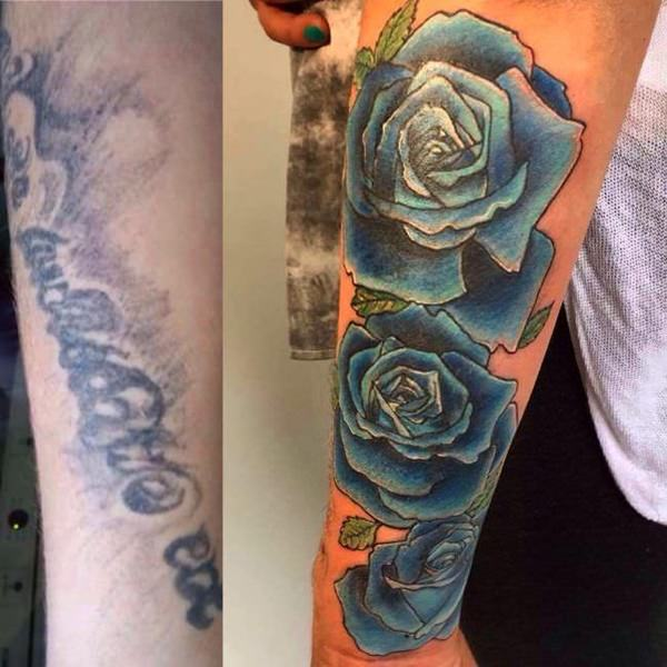 Rose Tattoo Cover Up: 112 Amazing Cover Up Tattoo Designs To The Rescue
