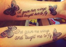 mother daughter tattoos