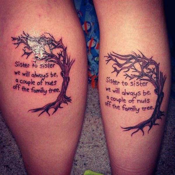Favoriete 103 Beautiful Sister Tattoo Designs For You and Your Cute Sisters #GA88