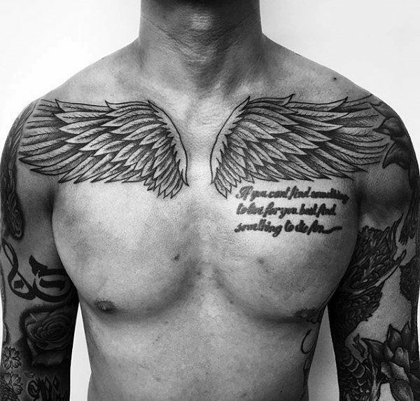 Cool Writing Chest Tattoos For Men Best Tattoo Ideas
