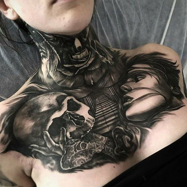 56bdc76fd Top 113 Best Chest Tattoos You Could Get In 2018
