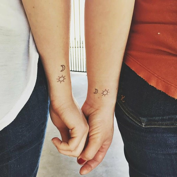 58a4da808 Well, tattoo the sun and the moon as well- that will be equivalent of  inking yourselves in your tattoos. This concept is very cool for matching  sister ...