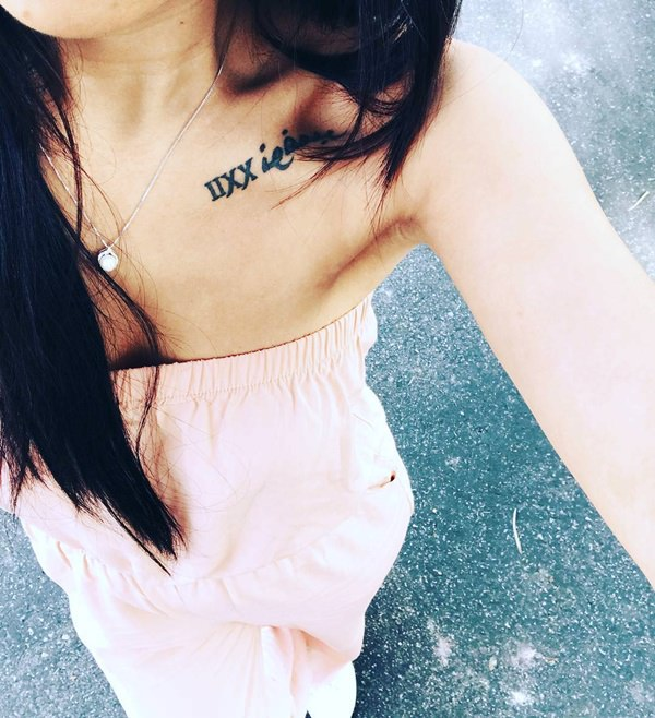 56 Cool Roman Numeral Tattoos That Is Just Perfect For You