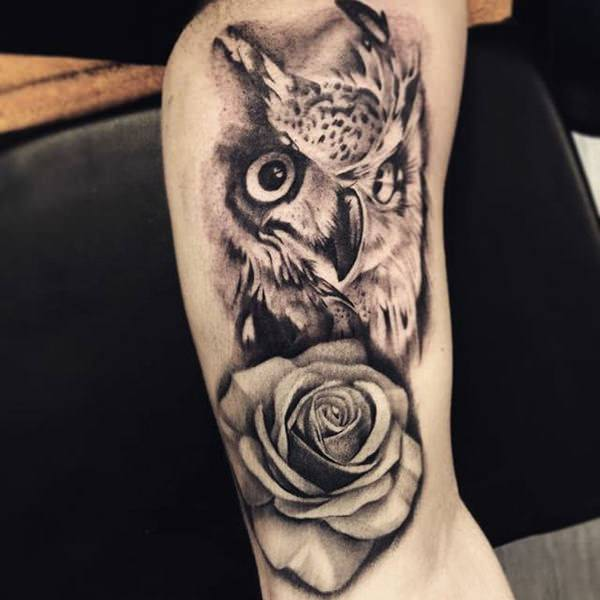 eef50885c9de6 113 Best Owl Tattoos With Their Meaning Which You Can Get