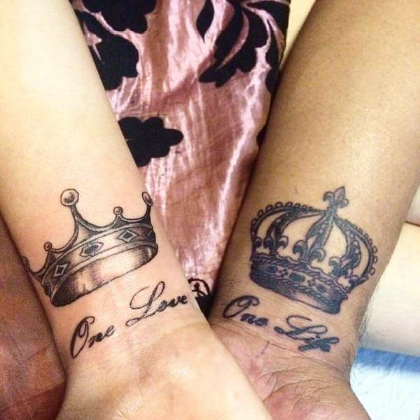 63 Premier King And Queen Tattoos For The Most Wonderful Couples