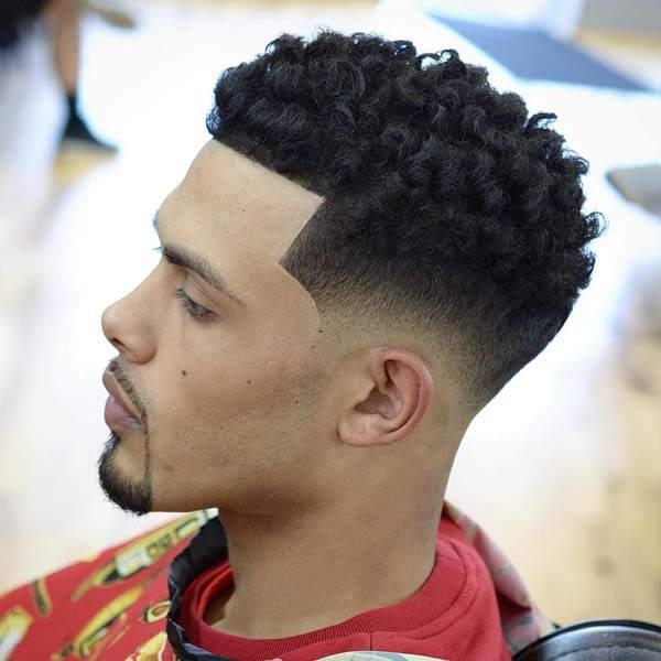 Black Taper Haircut Fade 42