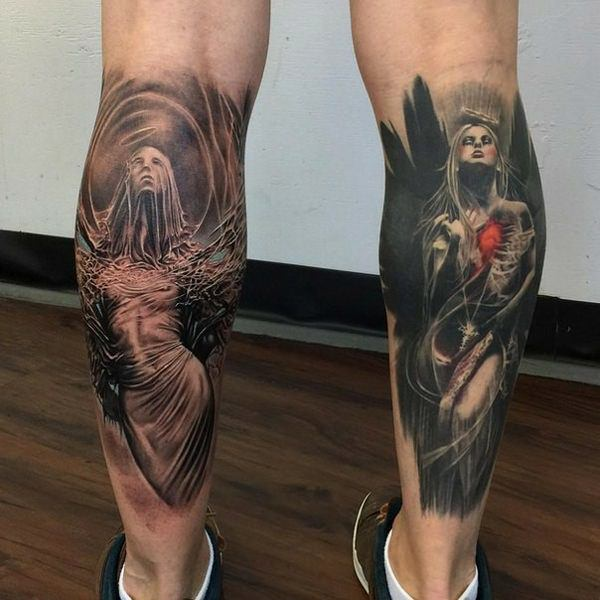 120 Fascinating Leg Tattoos For Male And Female