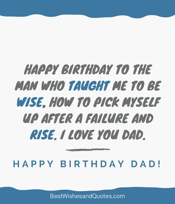 happy birthday message to my dead father