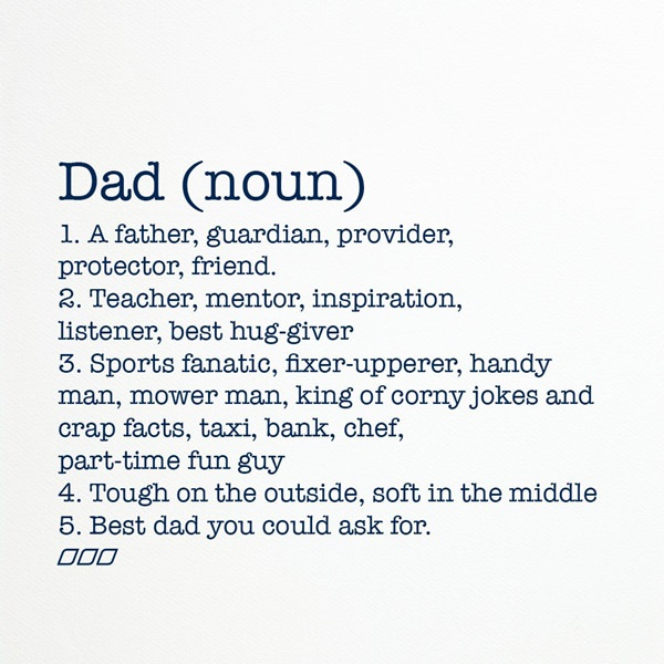 Image result for dad is a noun